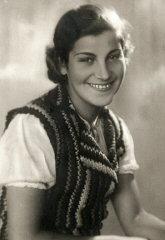 Studio portrait of Chava Leichter, murdered in Treblinka...