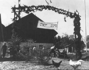 An agricultural training farm preparing Jewish refugees...