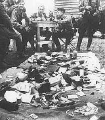 Ustasa (Croatian fascist) guards alongside belongings...