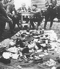Ustasa (Croatian fascist) guards alongside belongings...