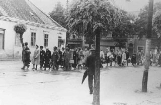 Deportation of Hungarian Jews. Koszeg, Hungary, May...