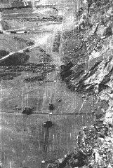View of the quarry in a forced-labor camp established...