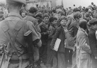 Des soldats britanniques transfèrent des enfants réfugiés...
