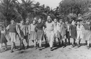 """A group of Polish Jewish children (known as the """"Tehran..."""