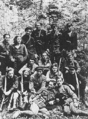 Group of Jewish partisans from the Kovno ghetto.