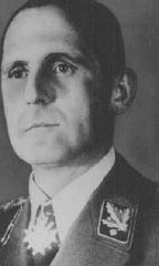 Heinrich Mueller, the head of the Gestapo, the Third Reich's secret state police.