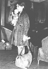 Refugee girl, part of a Children's Transport (Kindertransport)...