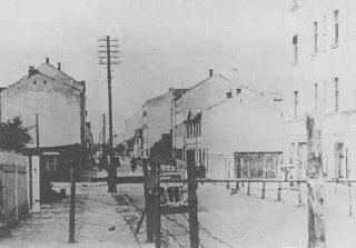 Entrance to the Riga ghetto. Riga, Latvia, 1941-194...