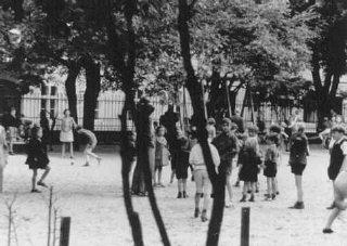 Escena organizada por los nazis con motivo de una inspección...