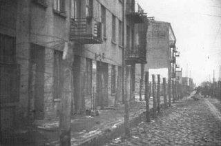 Camp tsigane dans le ghetto de Lodz.