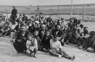 Romani (Gypsy) families in Belzec labor camp.