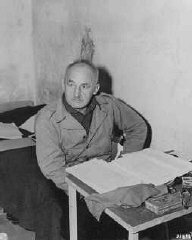 Defendant Julius Streicher in his prison cell.
