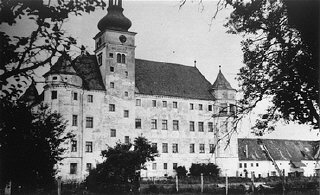 Hartheim castle, a euthanasia killing center where people with physical and mental disabilities were killed by gassing and letha