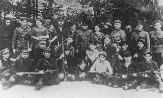 Jewish partisans in Naliboki forest, near Novogrudo...