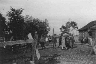 Entrée du ghetto de Minsk. Union soviétique, 31 mai...