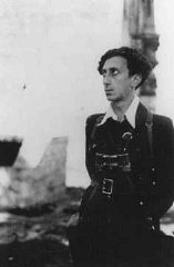 Abba Kovner, commander of Vilna ghetto's United Partisan...