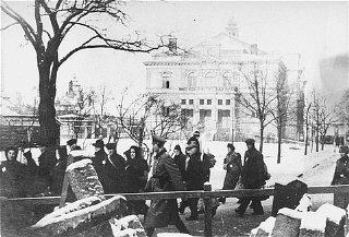 Déportation des Juifs de Plzen. Tchécoslovaquie, 19...