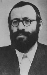 Rabbi Michael Dov Weissmandel, leader of the Working Group (Pracovna Skupina), a Jewish underground group devoted to the rescue