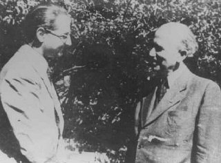 Hungarian Zionist leaders Otto Komoly and Rezso Kasztner...