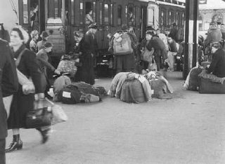 Deportation of German Jews to Theresienstadt ghetto...