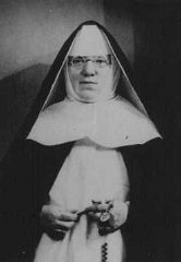 Portrait of Mother Superior Alfonse, who hid Jewish...