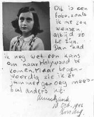 Excerpt from Anne Frank's diary, October 10, 1942:...