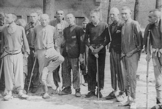 Survivors in Langenstein after the camp was liberated...