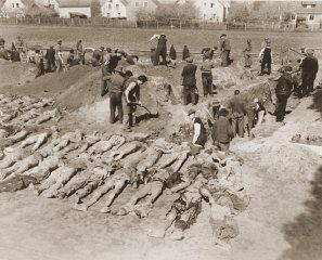 Cittadini tedeschi di Schwarzenfeld scavano le tombe...