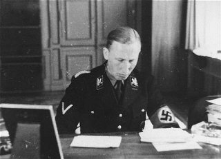SS General Reinhard Heydrich. Germany, date uncertain.
