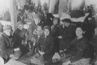Jews from Macedonia who were rounded up and assembled...