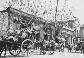 Greek Jews from the provinces move into a designated...