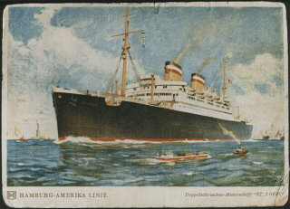 A postcard of the SS St. Louis. May 1939.