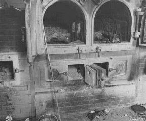 The crematoria at the Gusen camp, a subcamp of Mauthausen...