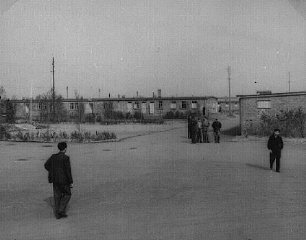 View of the Zeilsheim displaced persons camp.