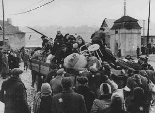 Deportation of Jews from the Kovno ghetto.