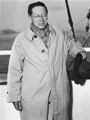 Lion Feuchtwanger arriving in New York. October 194...