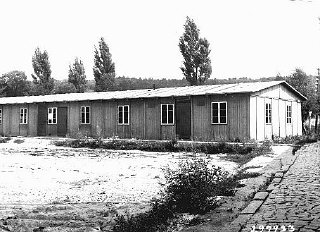 School building for children in the Ebelsberg camp...