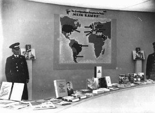 Exhibition of Nazi publications—carefully purged of...