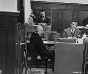 Priest Benedict Wein gives testimony as a witness for...