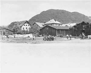 View of the Salzburg displaced persons camp.