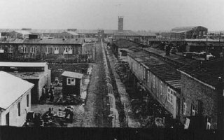View of Neuengamme concentration camp. Germany, wartime.