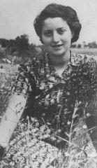 Jewish parachutist Hannah Szenes at Kibbutz Sedot Yam...