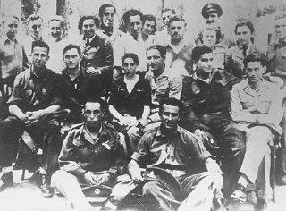 Group of Jewish parachutists under British command...