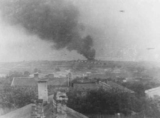 View of Majdanek extermination camp from a nearby v...