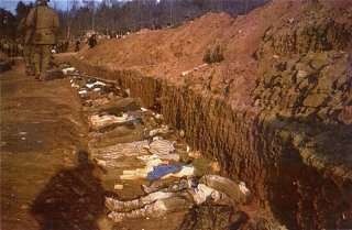 The bodies of prisoners killed in the Nordhausen concentration...