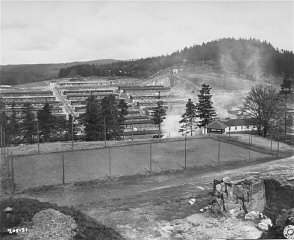 View of the Flossenbürg concentration camp after li...