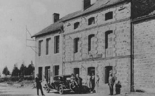 Postcard of a pension in Le Chambon which served as...