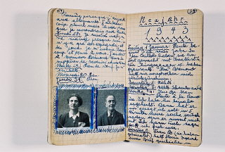 Page from the diary of Peter Feigl, a Jewish child...