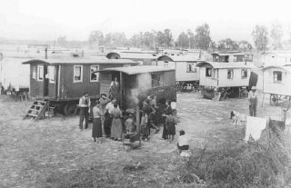 Marzahn, the first internment camp for Roma (Gypsies) in the Third Reich.