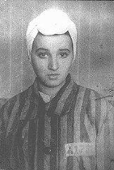 Détenu âgé de 14 ans du camp de concentration de Kaiserwald...